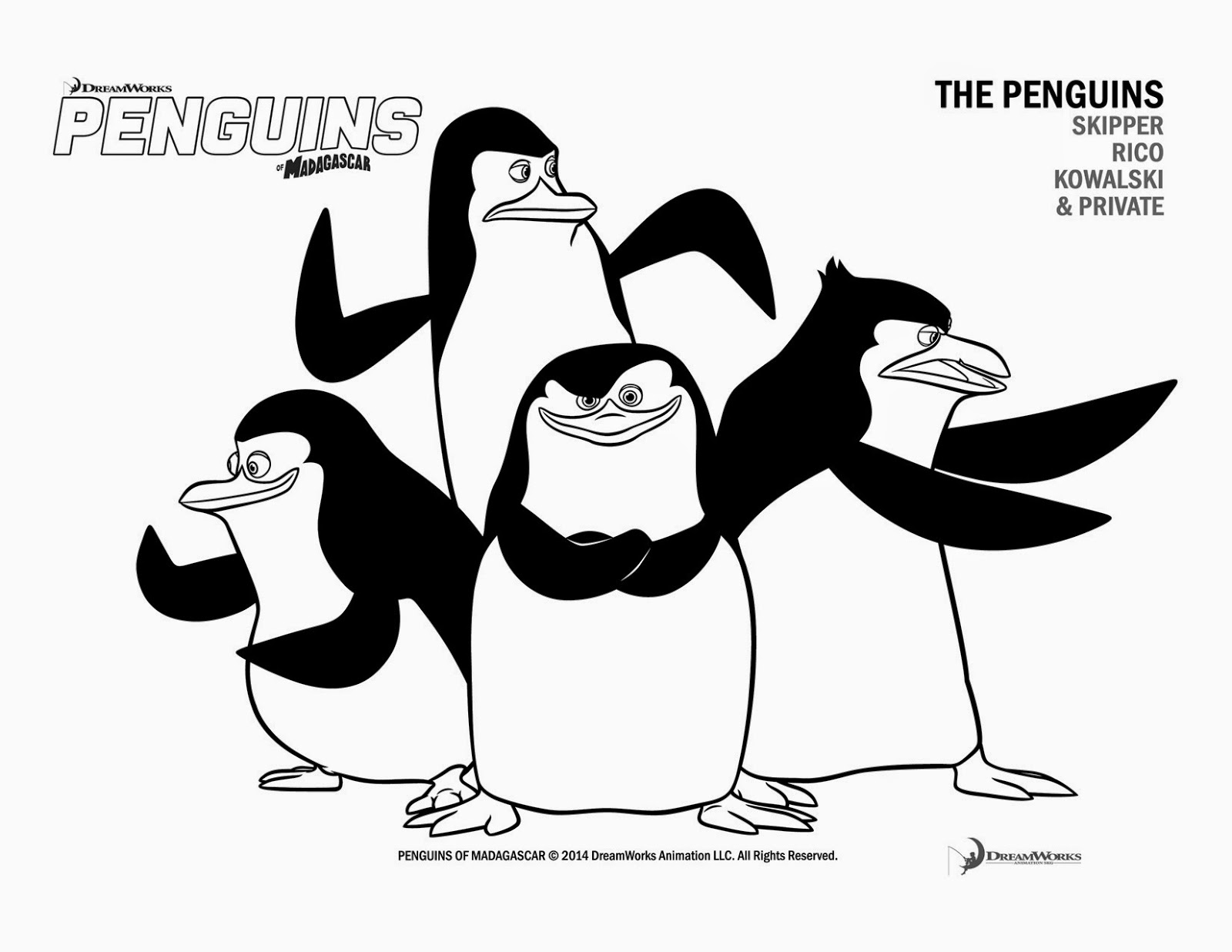 Penguins of madagascar dave printable coloring pages